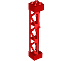 Support 2 x 2 x 10 Girder Triangular Vertical - Type 4 - 3 Posts, 3 Sections, Red (95347 / 6143435 / 6250028)