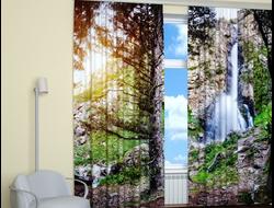 Фотошторы: Водопад в горах