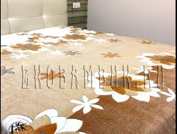 Плед из бамбука Цветы на коричневом 190х220