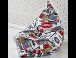 Кресло-подушка 180*140 см, жаккард принт