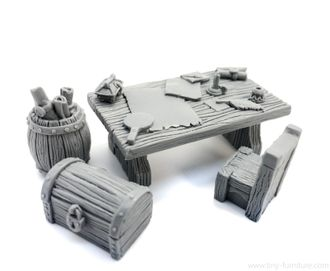 Treasure hunter table