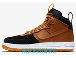 Nike Lunar Force 1 Duckboot Black/Light British Tan-Gold Dart-White