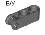 ! Б/У - Technic, Axle and Pin Connector Perpendicular 3L with 2 Pin Holes, Dark Bluish Gray (42003 / 4210857) - Б/У