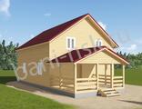 Проект дома из бруса 10 на 8 -Д13