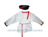 Детский костюм для танцев «Косоворотка+картуз» для мальчика купить недорого с доставкой по России