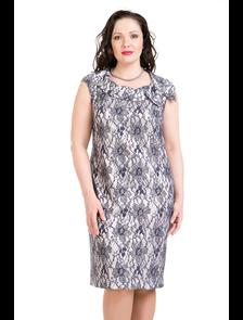 Кружевное платье-футляр 2782-PLРазмерный ряд: 48-60