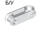 ! Б/У - Technic, Axle and Pin Connector Perpendicular 3L with Pin Hole, White (32068 / 4112072 / 4167337) - Б/У