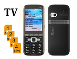 "С8 4 (не Nokia) сим 2,2"" экран TV FM Video Bluetooth"