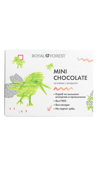 Шоколад Royal Forest Mini Chocolate из кэроба с миндалем, 30 гр.