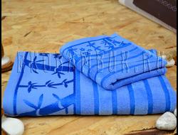 Бамбуковое полотенце Спорт класса синий 68х136