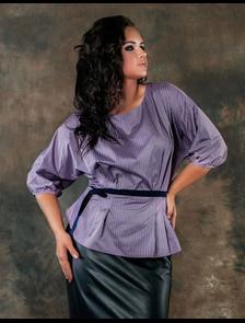 Приталенная блуза Мари-Лайн-1154 (принт). Размерный ряд: 52-60
