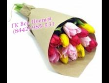 Букет 15 цветных Тюльпанов Osl