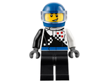 Buggy Driver, Checkered Race Torso, Blue Helmet, Black Legs, n/a (cty0712)