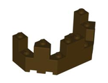Castle Turret Top 4 x 8 x 2 1/3, Dark Brown (6066 / 4549622 / 6135006)