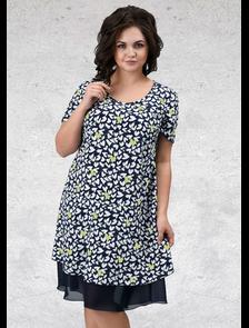 Платье миди Мари-лайн-А-1342 (лайм) Размерный ряд: 52—62