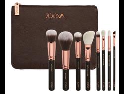Набор кистей для макияжа ZOEVA 8 штук + косметичка