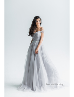 Серое свадебное платье Trudy