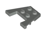 Wedge, Plate 3 x 4 with Stud Notches, Light Bluish Gray (48183 / 4211874 / 4240013 / 4594243)