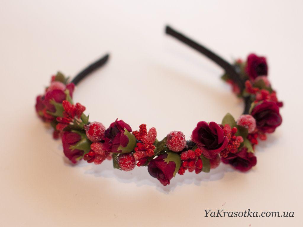 Обруч для волос с цветком своими руками
