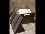 подарочный ящик со стружкой