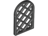Window 1 x 2 x 2 2/3 Pane Lattice Diamond with Rounded Top, Black (30046 / 3004626 / 6173105)