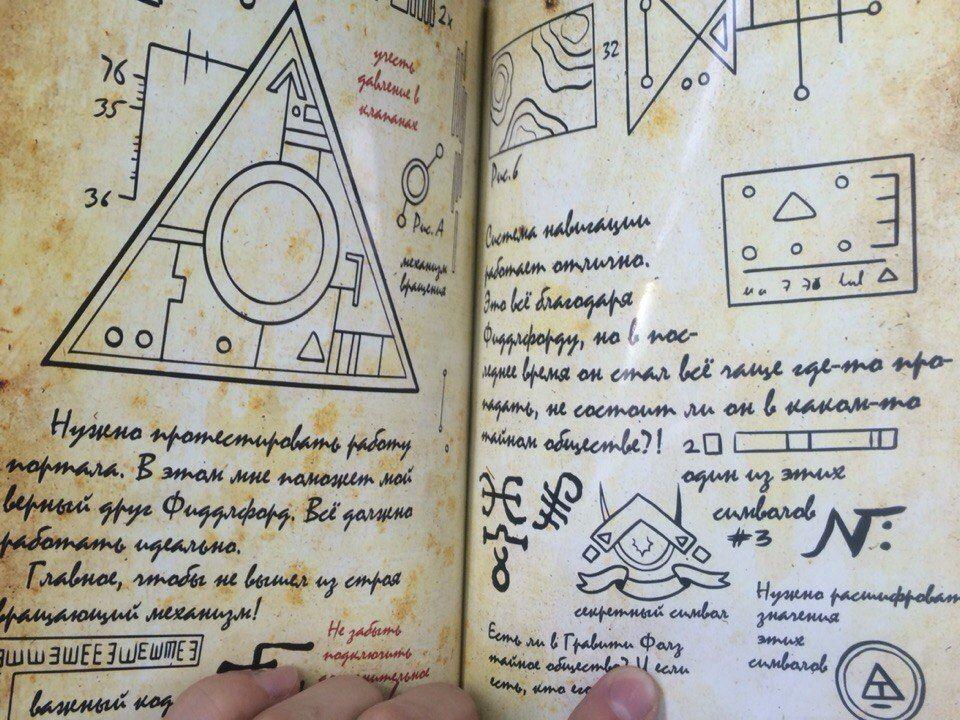 Дневник диппера 3 все страницы на русском картинки