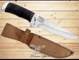 Нож Туристический НС-18 (Рукоять: наборная кожа, Сталь: ЭИ-107, Тыльник: алюминий)