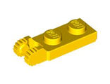 Hinge Plate 1 x 2 Locking with 2 Fingers on End without Bottom Groove, Yellow (44302b / 4183981)