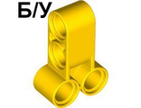 ! Б/У - Technic, Pin Connector Perpendicular Double 3L, Yellow (32557 / 4173617 / 4501535) - Б/У