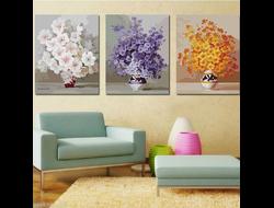 """Картина раскраска по номерам """"Три настроения"""" триптих 4050 см 3 шт."""