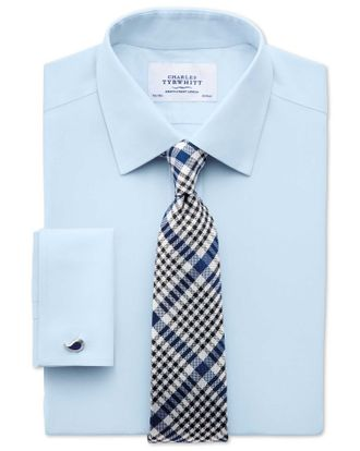 Рубашка CHARLES TYRWHITT Slim fit non-iron poplin sky blue shirt