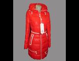 Женская весенняя куртка красная 002-094
