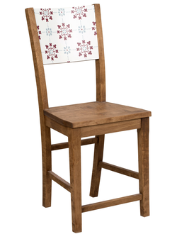 200584 CHAIR CARREAUX NATURAL 40X36XH93CM ALDER+MELAMINE