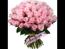 Розовый букет роз