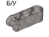 ! Б/У - Technic, Axle and Pin Connector Perpendicular 3L with 2 Pin Holes, Pearl Light Gray (42003 / 4194025) - Б/У