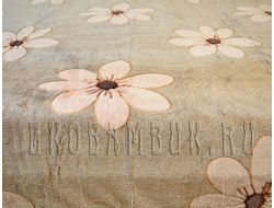 Плед из бамбука Цветы на бежевом 190х220