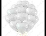Большие белые сердца