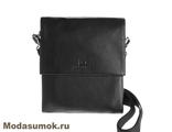 Сумка-планшет мужская из натуральной кожи Alliance 2-571k черная