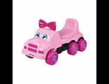 Детская каталка Машинка Весёлые гонки розовая