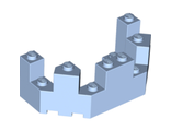 Castle Turret Top 4 x 8 x 2 1/3, Bright Light Blue (6066 / 6056246)