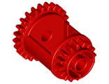Technic, Gear Differential, 24-16 Teeth, Red (6573 / 6188245)