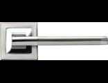 Дверные ручки RUCETTI RAP 17-S SN/CP Цвет Белый никель/хром