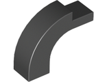 Brick, Arch 1 x 3 x 2 Curved Top, Black (6005 / 4188168 / 4618880)