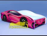 Кровать машина ЛАМБО розовая