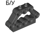 ! Б/У - Technic, Pin Connector Block 1 x 5 x 3, Black (32333 / 4141810) - Б/У