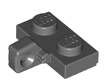 Hinge Plate 1 x 2 Locking with 1 Finger on Side without Bottom Groove, Dark Bluish Gray (44567b / 4210892)