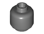 Minifig, Head (Plain) - Stud Recessed, Dark Bluish Gray (3626c / 4557852 / 6192569)