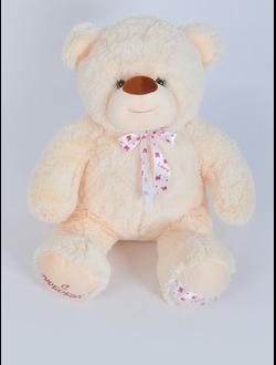 """Кремовый плюшевый медведь """"Лео"""" 100 см."""