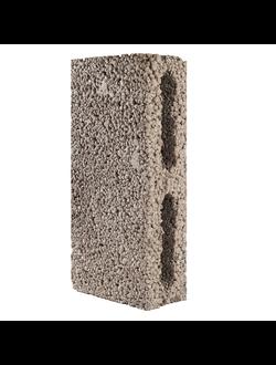 Блок керамзитобетонный перегородочный пустотелый размером 390х90х188мм КПР-ПР-ПС-39-35-900 ГОСТ 6133-99