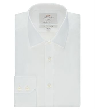 Рубашка HAWES & CURTIS Men's Plain White Poplin Slim Fit Shirt